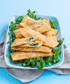 Silverbeet and cheese turnovers