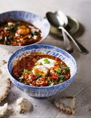 Shakshouka (poached eggs in tomato sauce, North Africa)