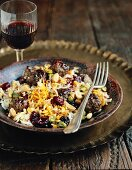 Persian rice with lamb meatballs and sour cherries