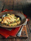 Tunisian fish and potato stew