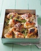 Chicken in a garlic and herb marinade