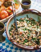 Greek rice pilau with spinach