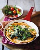 Omelette with Greyerzer cheese and herbs