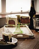 Chocolate cake with Guinness and frosting (Ireland)