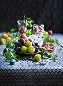 Fresh plums and plum desserts