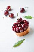 A cherry tartlet