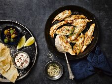 Chicken breast with tahini