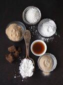 Ingredients for baking and binding vegetarian food