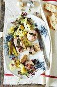 Swordfish terrine with a cauliflower salad