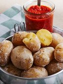 Salted potatoes with red mojo sauce (Spain)