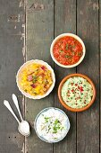 Four homemade sauces for grilled meats