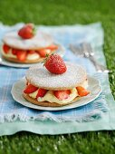 strawberry shortcake with cream filling for a picnic