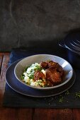 Beer beef stew with colcannon mash