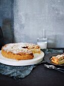 Fig jam and ricotta torta