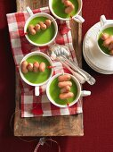 Pea and potato soup with sausages (Christmas)