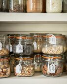 Labelled storage jars