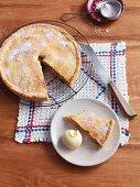 Slice of Apple Pie a la Mode