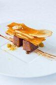 Salted caramel, restaurant L Auberge des Glazicks, Brittany, France