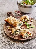 Chard strudel with sheep's cheese