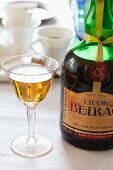 A glass of Portuguese Beirao liqueur