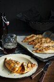 Sweet potato and chorizo pasties