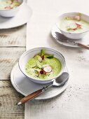 Foamy radish soup