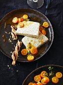 Mohnparfait mit Thymian-Kumquats