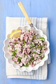 Octopus salad with lemon and parsley