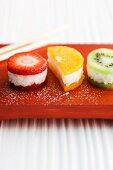 Sweet fruit sushi