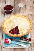 Cherry and redcurrant pie