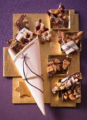Various types of chocolate as a gift (Christmas)