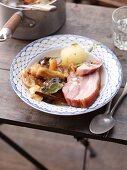 Schlesisches Himmelreich (smoked pork belly with stewed fruits)
