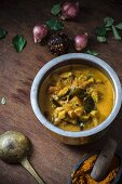 Curry with bitter gourds (Asia)