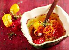 Habanero pepper oil