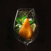 Pinot Gris-Weinaromen im Weinglas