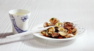 Kai no Sakamushi (mussels steamed in sake, Japan)