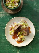 Beef roulade with creamy savoy cabbage