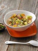 Turnip stew with potatoes and gremolata