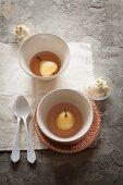 Rosé wine pairs with honey frozen yoghurt