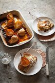 French toast with baked pears