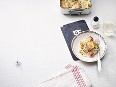 Winter sauerkraut gratin with goat's cheese and cream cheese (low carb)