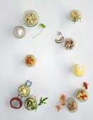 Vegetarian side dishes made from grains