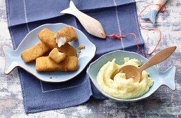 Fish fingers for children