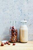 Hazelnuts and hazelnut milk