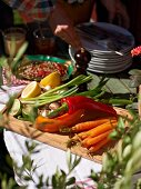 Vegetable side dishes for a barbecue party