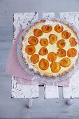 Apricot tart with fennel seeds