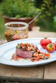 Fillet steak with tomato salsa