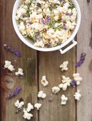 Popcorn with lavender and rosemary