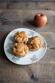 Apple muffins on a plate