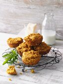 Sweet potato muffins with Parmesan cheese and buttermilk